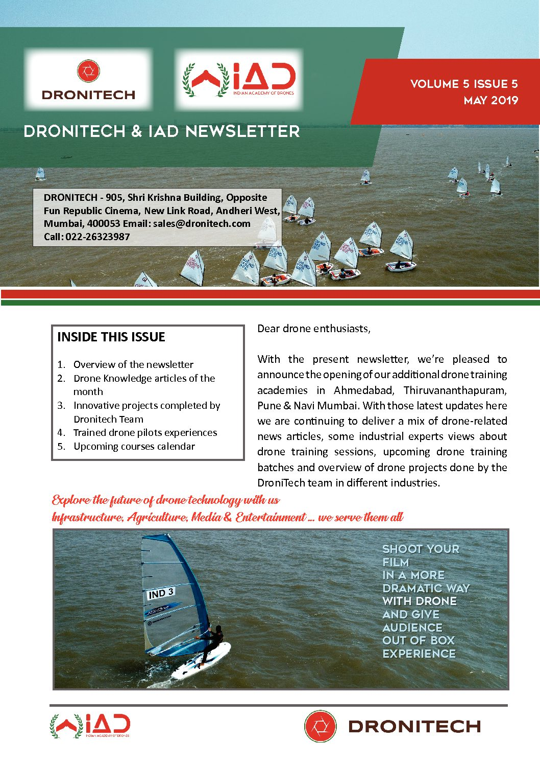 Dronitech and IAD Newsletter -May 15