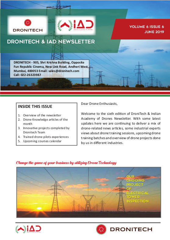 Dronitech and IAD Newsletter – June 19